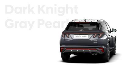 SUV compact Hyundai TUCSON Plug-in N Line Nouvelle Génération dans sa teinte Dark Knight.