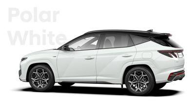 SUV compact Hyundai TUCSON Plug-in N Line Nouvelle Génération dans sa teinte Polar White.