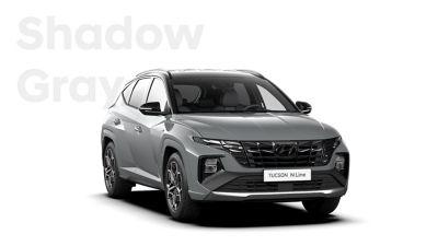 SUV compact Hyundai TUCSON Plug-in N Line Nouvelle Génération dans sa teinte Shadow Gray.
