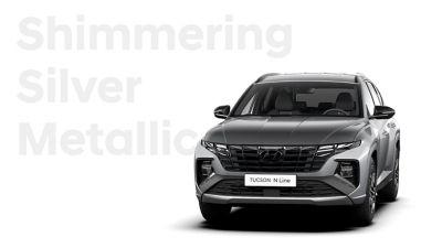 SUV compact Hyundai TUCSON Plug-in N Line Nouvelle Génération dans sa teinte Shimmering Silver.