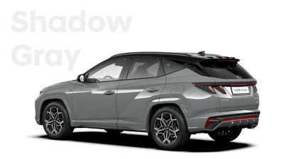 SUV compact Hyundai TUCSON Hybrid N Line Nouvelle Génération dans sa teinte Shadow Gray.
