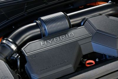 An image of the state-of-the-art hybrid engine in the the all-new Hyundai Tucson.