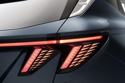 Tylne światła Hyundaia Tucson Nowej Generacji.