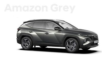De kleuren voor de nieuwe Hyundai TUCSON Plug-in Hybrid compacte SUV: Amazon Grey.