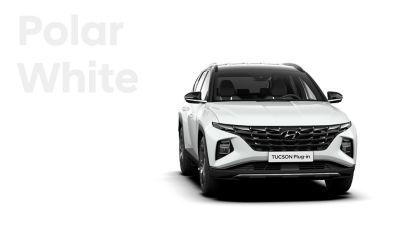 Różne opcje kolorystyczne nowego kompaktowego SUV-a Hyundai TUCSON Plug-in Hybrid: Polar White