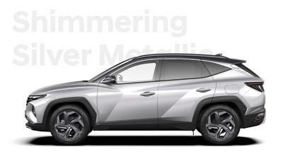 Różne opcje kolorystyczne nowego kompaktowego SUV-a Hyundai TUCSON Plug-in Hybrid: Shimmering Silver