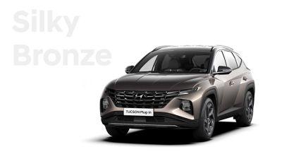 De kleuren voor de nieuwe Hyundai TUCSON Plug-in Hybrid compacte SUV: Silky Bronze.