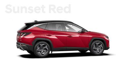 De kleuren voor de nieuwe Hyundai TUCSON Plug-in Hybrid compacte SUV: Sunset Red.