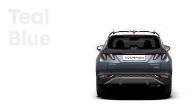 De kleuren voor de nieuwe Hyundai TUCSON Plug-in Hybrid compacte SUV: Teal Blue.