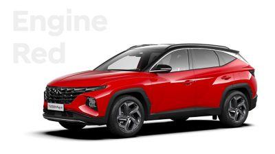 Różne opcje kolorystyczne nowego kompaktowego SUV-a Hyundai TUCSON Plug-in Hybrid: Engine Red