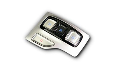 De shift-by-wire-bediening met de ergonomische armsteun in de nieuwe Hyundai TUCSON.