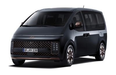 A picture of the futuristic-looking all-new STARIA Wagon and Premium.