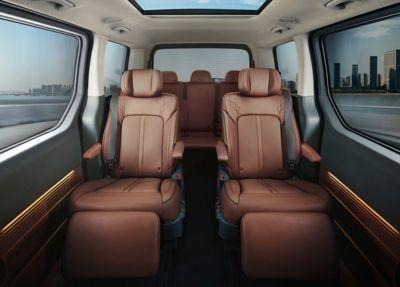 The all-new Hyundai STARIA Premium multi-purpose vehicle's interior.