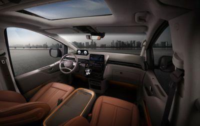 View of the all-new Hyundai STARIA's multi-purpose roomy interior.
