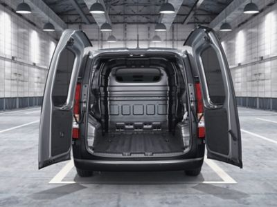 A view of the ample cargo space the all-new STARIA Van offers.
