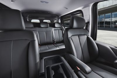 Interior view of the 6-seater version of the all-new Hyundai STARIA Van.