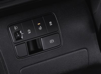 Control element of the Electronic Parking Brake (EPB) in the all-new STARIA Van.