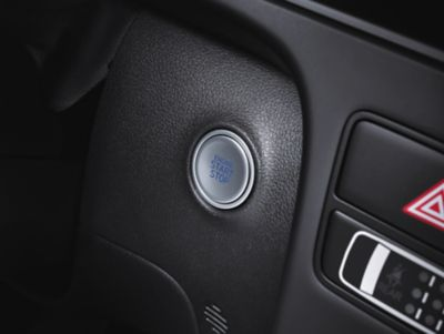 The start and stop button in the all-new STARIA Van.