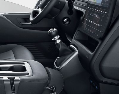 A view of the all-new Hyundai STARIA's  6-speed manual transmission.