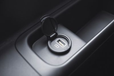 The rear seat USB chargers in the all-new Hyundai STARIA.