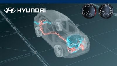 Video of the Hyundai Tucson 48-Volt Mild Hybrid System Animation