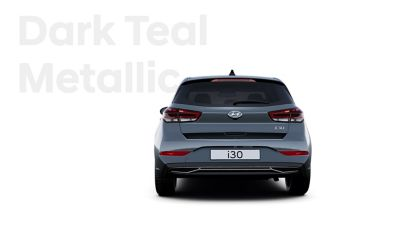 The Hyundai i30 in the colour Dark Teal Metallic.