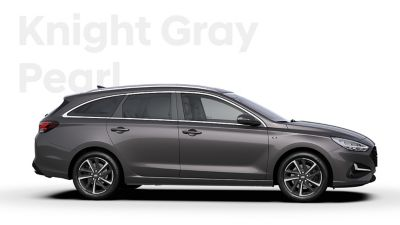 The Hyundai i30 Wagon in the colourKnight Gray Pearl.