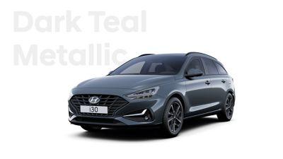 The Hyundai i30 Wagon in the colourDark Teal Metallic.