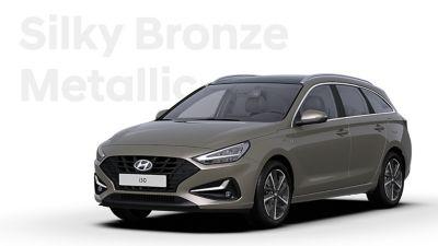 The Hyundai i30 Wagon in the colourSilky Bronze Metallic.