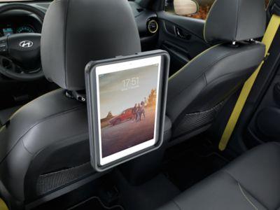 iPad holder for baksetet. Foto.