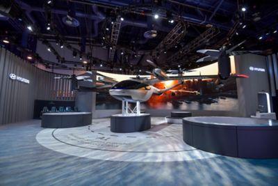 Lanseringen av S-A1, Hyundais og Ubers luftfarkost, på CES 2020. Foto.