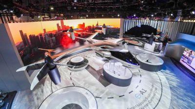 Hyundai presenterer en personlig luftfarkost (PAV) på CES 2020. Foto.