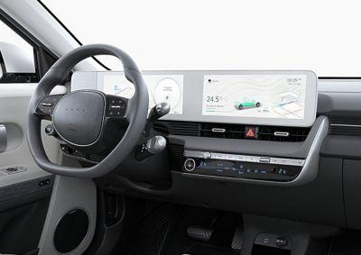 Gli aggiornamenti over the air per mappe e infotainment del SUV Crossover compatto 100% elettrico Hyundai IONIQ 5.