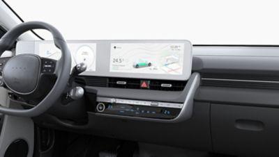Il climatizzatore automatico bizona del SUV Crossover compatto 100% elettrico Hyundai IONIQ 5.