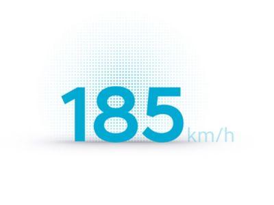 La velocità massima di 185 km/h del SUV Crossover compatto 100% elettrico Hyundai IONIQ 5.