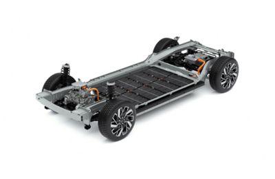 Il design unico tipico delle vetture elettriche del SUV Crossover compatto 100% elettrico Hyundai IONIQ 5, per maggiore sicurezza.