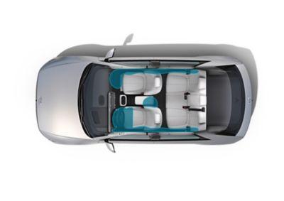 I 7 air-bag del SUV Crossover compatto 100% elettrico Hyundai IONIQ 5 per una maggiore sicurezza.