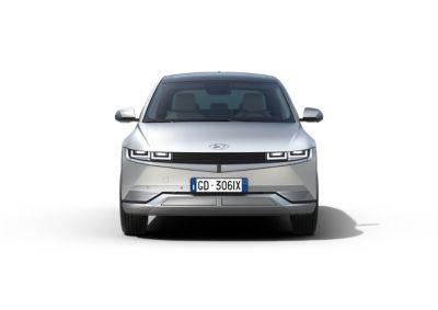 Il design futuristico del SUV Crossover compatto 100% elettrico Hyundai IONIQ 5.