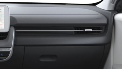 Las tres opciones de color para el interior del Hyundai IONIQ 5 Eléctrico: Dark Pebble Gray/Dove Gray.