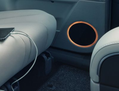 The BOSE premium sound system in the Hyundai IONIQ 5 electric midsize CUV.