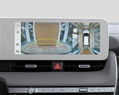 The Surround View Monitor (SVM) of the Hyundai IONIQ 5 electric midsize CUV.