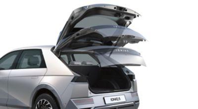 The power tailgate in the Hyundai IONIQ 5 electric midsize CUV.