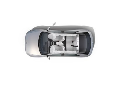 Enhanced safety with 7-airbags inside of the Hyundai IONIQ 5 electric midsize CUV.