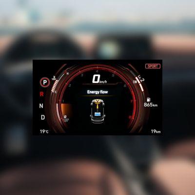 Ilustración del modo de conducción Sport del nuevo Hyundai IONIQ Híbrido.