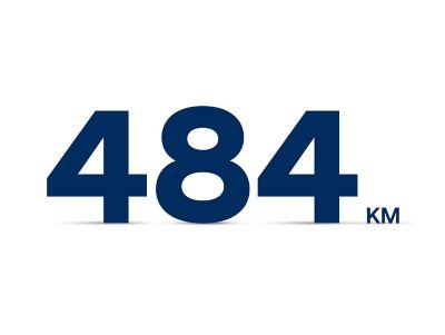 L'autonomia di 484 km di Nuova Hyundai Kona Electric con la batteria da 64 kWh.
