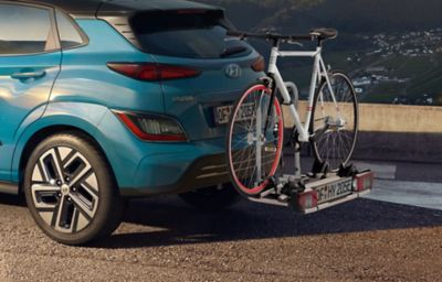 Bike carrier for all tow bars for the Hyundai Kona Electric.