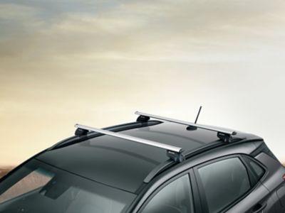 Genuine Accessories cross bars for the Hyundai Kona Electric.