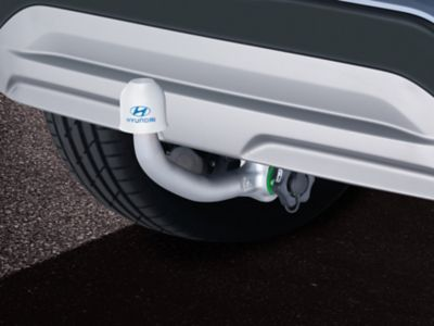 Corrosion-resistant tow bar of the Hyundai Kona Electric.