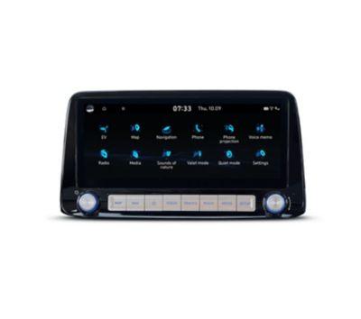 """Il menu principale del touchscreen da 10,25"""" di Nuova Hyundai Kona Electric."""