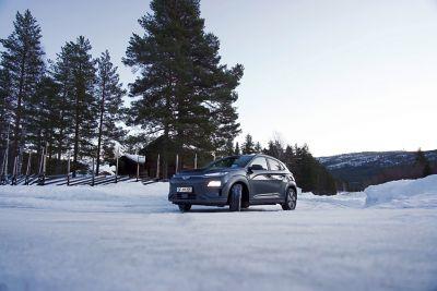 Hyundai na śniegu